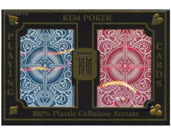 Baraja de Poker KEM Rojo y Azul