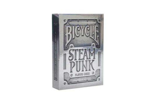 Caja de 24 Barajas Bicycle Steampunk Silver
