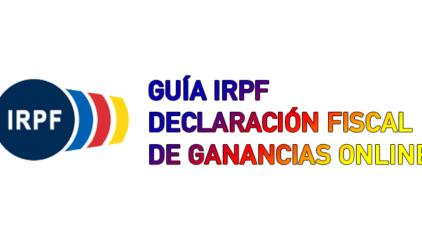 Guía IRPF Declaración fiscal de ganancias Online