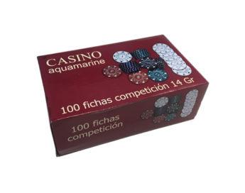 Caja 100 Fichas Poker Principiante